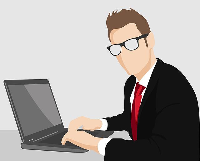 podnikatel u počítače