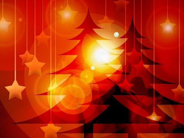 vánoční motiv červený