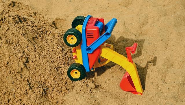 bagr na písku