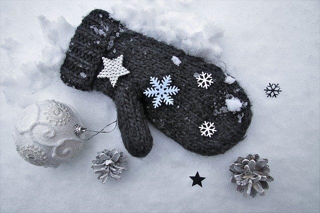 vánoční dekorace, rukavice